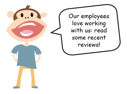 Our employees love working with us; read some recent reviews!