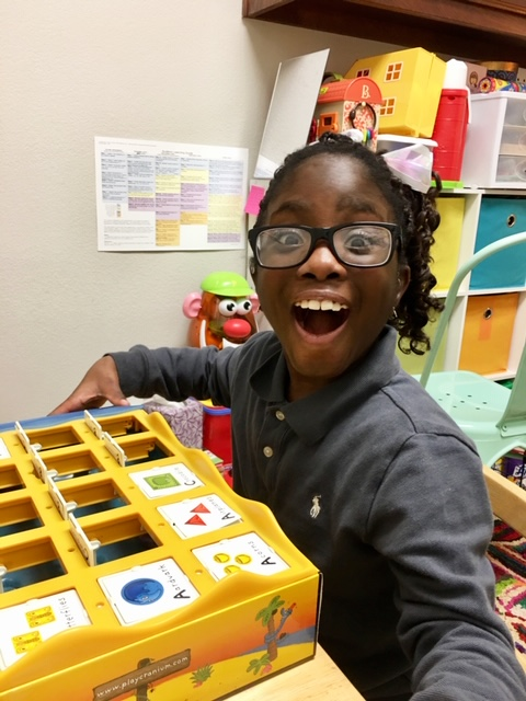 Happy Auditory Verbal Therapy Child at Monkey Mouths Clinic in Texas